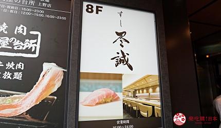 東京上野必吃高級壽司店「すし尽誠」的交通方式步驟三