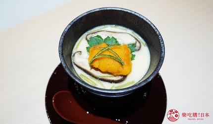 東京上野必吃高級壽司店「すし尽誠」的「おまかせコース」的茶碗蒸