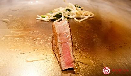 新宿必吃鐵板燒店「湛山」的「湛山特別套餐」(湛山スペシャルコース)的鐵板燒夏多布里昂牛排