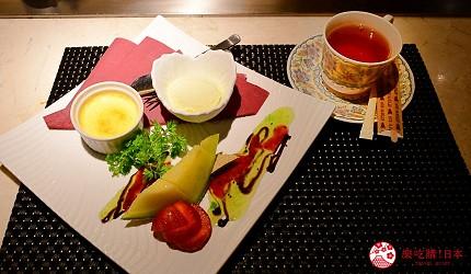 新宿必吃鐵板燒店「湛山」的「湛山特別套餐」(湛山スペシャルコース)的甜點