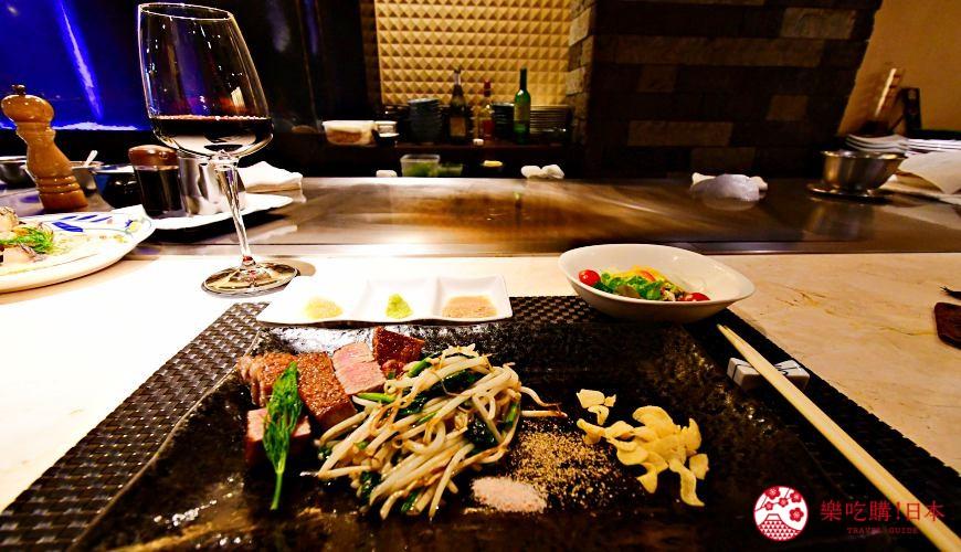 新宿必吃鐵板燒店「湛山」的套餐料理