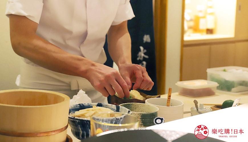 東京六本木必吃高級壽司「鮨 水月」:鮪魚肚壽司、松露茶碗蒸,套餐吃到撐!