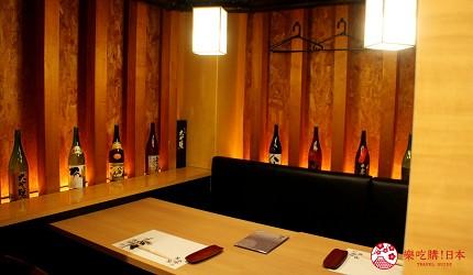 東京高級壽司店推薦「天鮨」的包廂座位