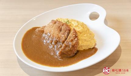 東京上野親子餐廳推薦じゅらくjuraku聚樂豬排咖哩蛋包飯オムカツカレー