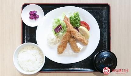 东京上野亲子餐厅推荐じゅらくjuraku聚乐炸虾天妇罗定食海老フライ定食