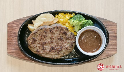東京上野親子餐廳推薦じゅらくjuraku聚樂日式牛肉漢堡排ビーフハンバーグステーキ