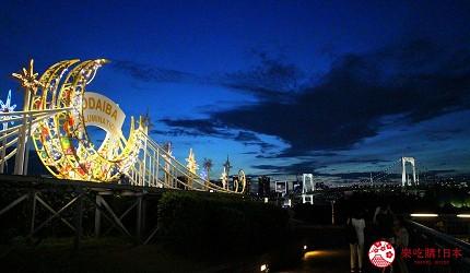 東京夜景景點推薦台場aquacity夜間點燈