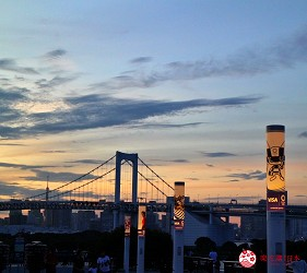 東京夜景景點推薦台場aquacity奧運主題點燈