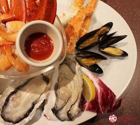 東京夜景景點推薦台場aquacity夜景餐廳redlobster的生蠔