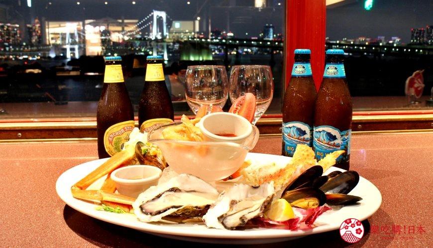 東京夜景景點推薦台場aquacity夜景餐廳redlobster料理