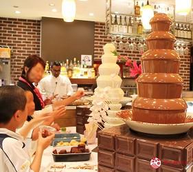 東京夜景景點推薦台場aquacity夜景餐廳theoven西式料理吃到飽巧克力棉花糖