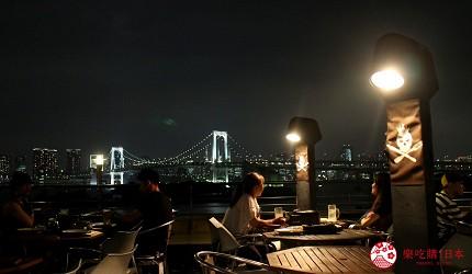 東京夜景景點推薦台場aquacity夜景餐廳kingofthepirates戶外