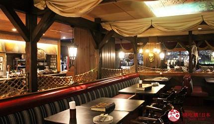 東京夜景景點推薦台場aquacity夜景餐廳kingofthepirates室內空間