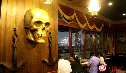東京夜景景點推薦台場aquacity夜景餐廳kingofthepirates窗台區