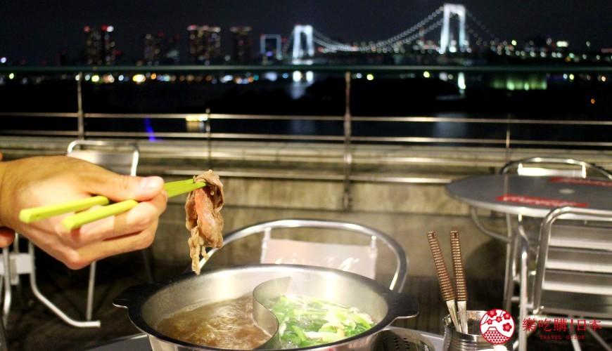 東京夜景景點推薦台場aquacity夜景餐廳roku日式涮涮鍋港式飲茶