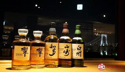 東京夜景景點推薦台場aquacity夜景餐廳響的酒類