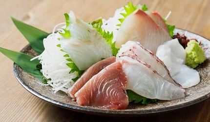 东京秋叶原美食烤鱼干干物专卖店越后屋平次综合生鱼片刺身盛り合わせ