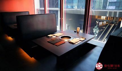 东京A5和牛烧肉平城苑银座五丁目店店内座位