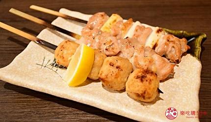 東京上野美食海鮮居酒屋推薦「酒亭じゅらく」上野店料理綜合烤雞串大串盛合せ