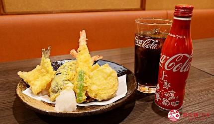 東京上野美食海鮮居酒屋推薦「酒亭じゅらく」上野店料理綜合天婦羅天ぷら盛合せ