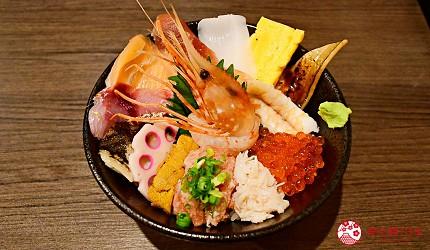 東京上野美食海鮮居酒屋推薦「酒亭じゅらく」上野店料理豪華海鮮丼飯海鮮贅沢丼