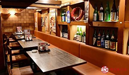 东京上野美食海鲜居酒屋推荐「酒亭じゅらく」上野店店内
