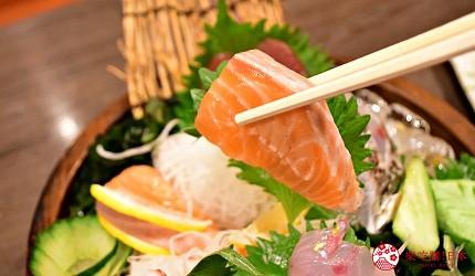 東京上野美食海鮮居酒屋推薦「酒亭じゅらく」上野店料理超厚生魚片