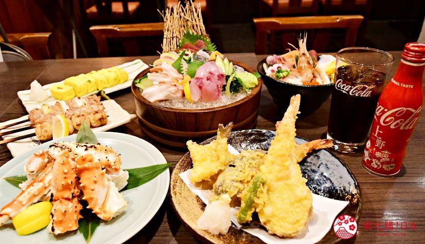 東京上野美食海鮮居酒屋推薦「酒亭じゅらく」上野店料理