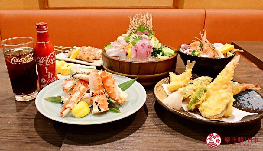 东京上野美食海鲜居酒屋推荐「酒亭じゅらく」上野店料理