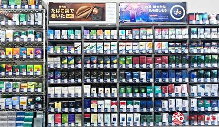 日本便利店的煙架