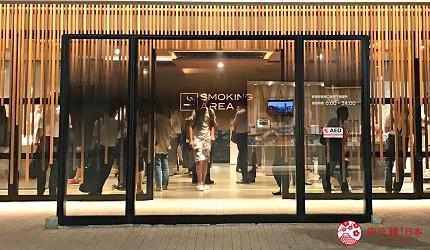 日本東京新宿JR站東南口出口的吸煙區