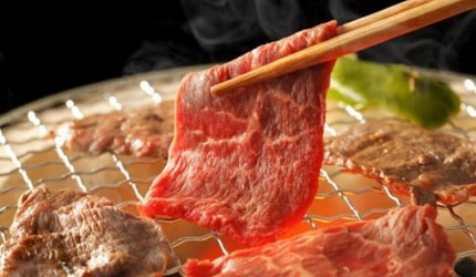 日本河口湖附近的日式烧肉午餐