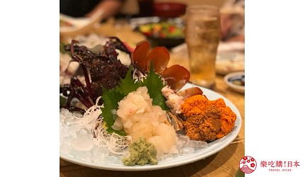 日本道地居酒屋內提供的龍蝦刺身