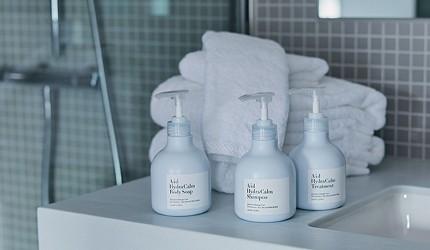 日本交通方便酒店DDD HOTEL內供應的優質盥洗用品、洗頭水、沐浴露、護髮素