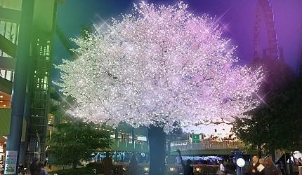 2019年去東京睇燈飾熱點東京巨蛋TOKYO DOME CITY WINTER LIGHTS GARDEN山紫水明粉紅色聖誕樹