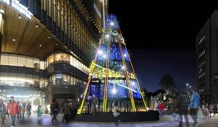 2019年去東京睇燈飾熱點日比谷HIBIYA Magic Time Illumination的聖誕樹
