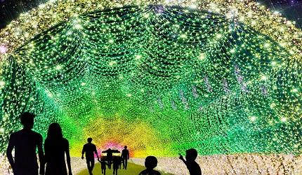 2019年去東京睇燈飾熱點大井競馬場TOKYO MEGA ILLUMINATION 2019-2020的當飾隧道