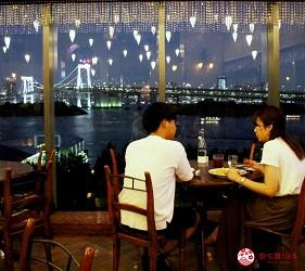 東京夜景景點推薦台場aquacity夜景餐廳CaféLABOHEME景色