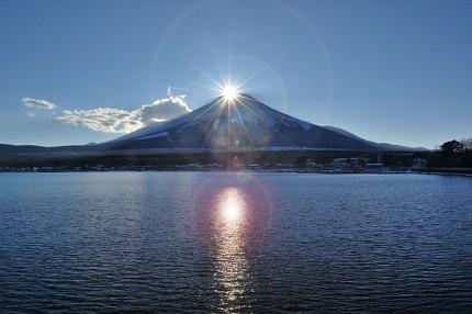 日本富士山的鑽石富士