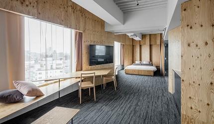 日本酒店評論家瀧澤信秋挑選的東京精品酒店排名 TOP 6 的「ONE@Tokyo」內觀