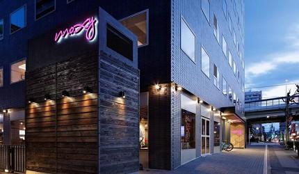 日本酒店評論家瀧澤信秋挑選的東京精品酒店排名 TOP 6 的萬豪酒店「Moxy Tokyo Kinshicho」外觀