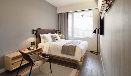 日本酒店評論家瀧澤信秋挑選的東京精品酒店排名 TOP 6 的萬豪酒店「Moxy Tokyo Kinshicho」房內照片