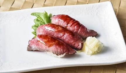 東京和牛黑毛和牛推薦米澤牛黃木銀座店的米澤牛壽司