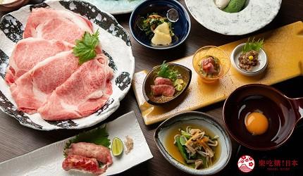 東京和牛黑毛和牛推薦米澤牛黃木銀座店的米澤牛特選壽喜燒套餐