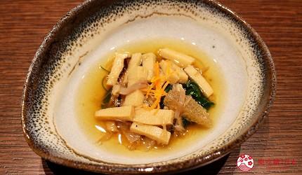 東京和牛米澤牛黃木銀座店的米澤牛特選涮涮鍋套餐開胃菜
