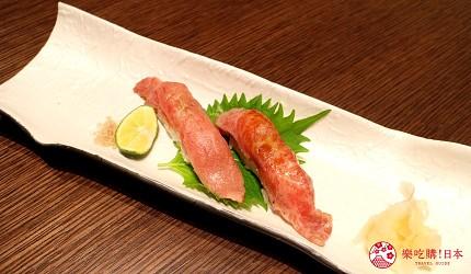 東京和牛米澤牛黃木銀座店的米澤牛特選涮涮鍋套餐壽司拼盤