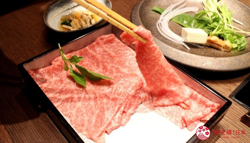 東京和牛米澤牛黃木銀座店的米澤牛特選涮涮鍋套餐赤身瘦肉