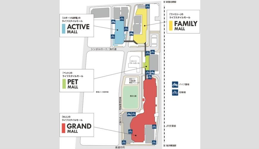 東京購物推薦aeonmall永旺夢樂城幕張新都心館內設施地圖