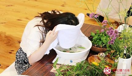 長野池田町住宿推薦民宿「八壽惠莊」的香草香氛體驗