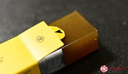 日本東京必買送禮用的手信中推介的小形羊羹的秋季限定的「新栗」口味的實物